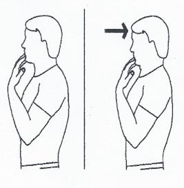 protraction cervicale